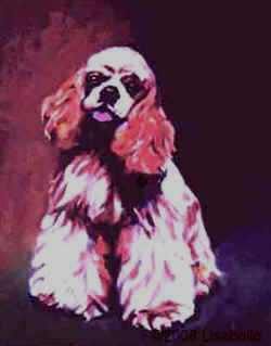 Dog Portrait From Photo by Lisa Bell. Portrait in Oil of Cocker Spaniel 16x20""
