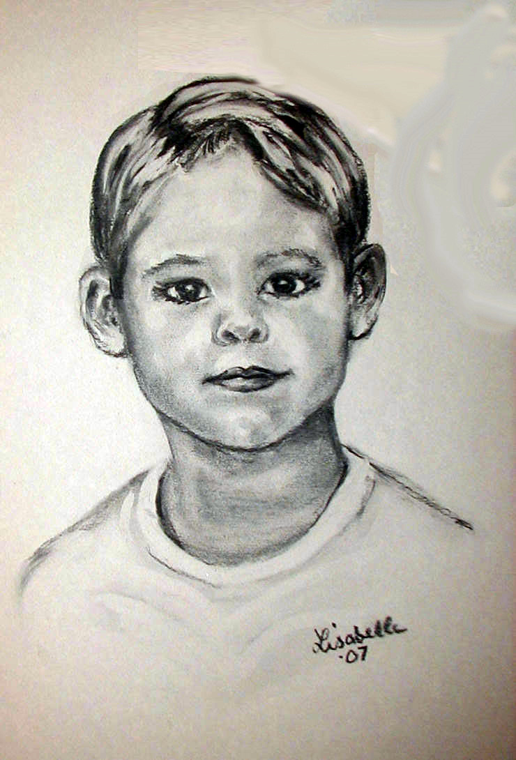 Gaskins Son  Charcoal Portraits by Lisabelle, Art by Lisabelle, Portraits in Charcoal, Portraits from Photos. Available in Print