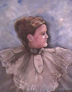 Oil portrait by Lisa Bell, Great Grandmother, Portrait from old family photos. 18x24""