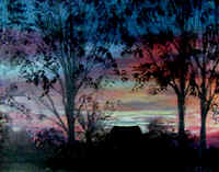 "Landscape Paintings by Lisabelle ©2009 BERKEY, OH SUNRISE acrylic on canvas 18x24"" prints available"