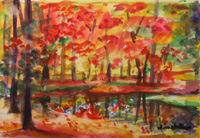 Landscape Paintings by Lisabelle ©2009. AUTUMN 2007 Watercolor Original NFS Prints Available
