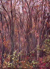 "Landscape By Lisabelle ©2009 THE WOODS acrylic on canvas 18x24"" Original sold. Prints Available"