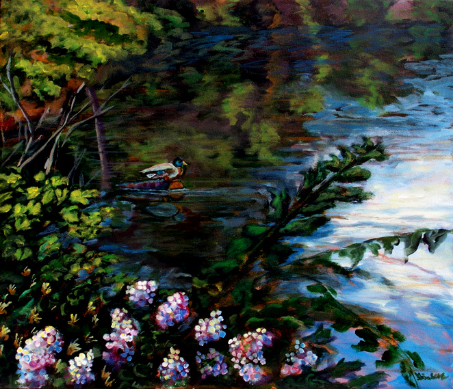 Acrylic Landscape Painting by Lisabelle MALLARD 1 yr. 5/2010 $500.  Pal Pal and Payment Plans, Signed Prints available.