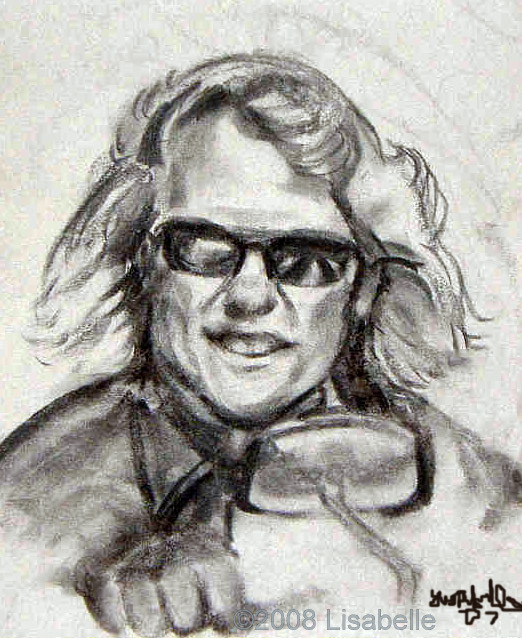"""Rumer"" , A charcoal Sketch, Portraits in Charcoal by Lisabelle, Art by Abellalisa �2008, Churchill's Maumee, OH.,"