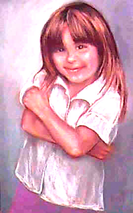 """Nicky"" 2000 Portraits of children by Lisabelle,  Pastel Portrait Commission, Paintings of people and pets from photos."