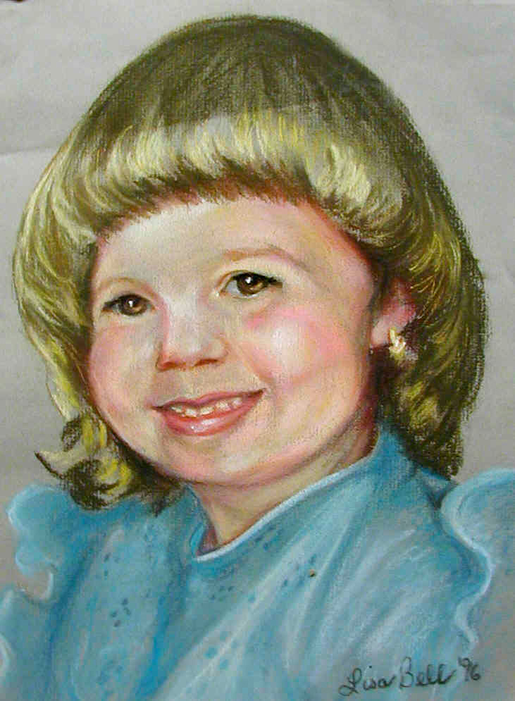 """Nicky"" 2000 Portraits of Adults by Lisabelle,  Pastel Portrait Commission, Paintings of people and pets from sittings and photos."