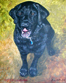 Portraits in Acrylic by Lisa Bell.  Commissioned June 2006, JAKE a portrait gift for customer's husband's birthday.