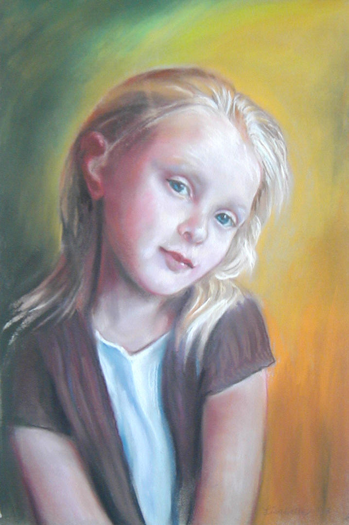 """Skyler"" 2008  Portraits of Grandchild, Portraits of children, Paintings of People, Pets by Lisabelle, Pastel Portraits by Lisabelle, Commission Artist, Pastel Art, Pastel Portraits, Art by Lisabelle"